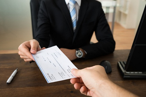giving checks